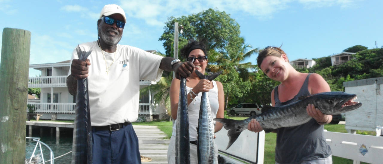 Fishing for women in Turks and Caicos is very similar to fishing for men